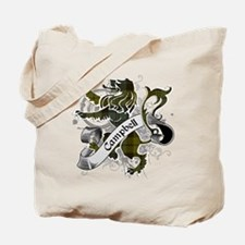 Campbell Tartan Lion Tote Bag