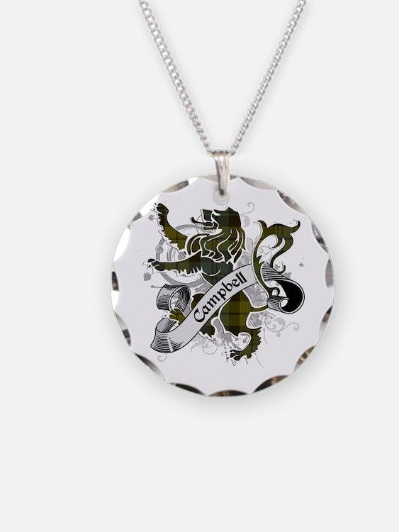 Campbell Tartan Lion Necklace