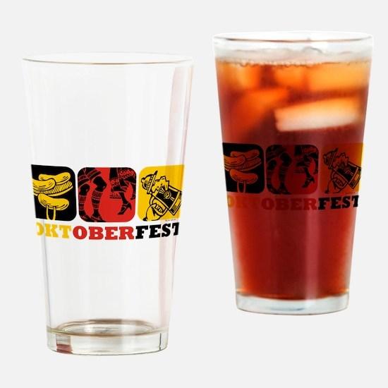 Oktoberfest Fun Drinking Glass