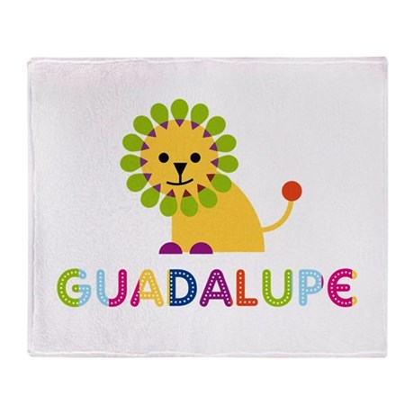 Guadalupe the Lion Throw Blanket