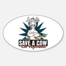 Save a Cow, Eat Vegetables! Decal