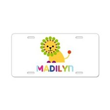Madilyn the Lion Aluminum License Plate