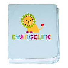 Evangeline the Lion baby blanket