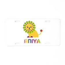 Aniya the Lion Aluminum License Plate