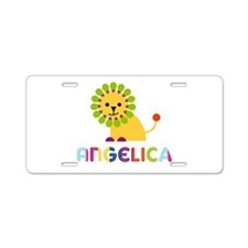 Angelica the Lion Aluminum License Plate