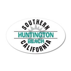 Huntington Beach California 22x14 Oval Wall Peel