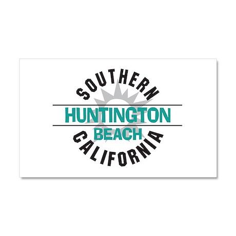 Huntington Beach California Car Magnet 20 x 12