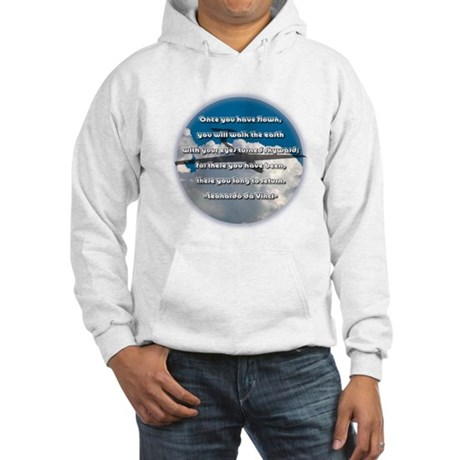 Leonardo da Vinci Quote Hooded Sweatshirt
