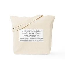 Illuminatus Pope Card Tote Bag