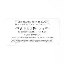Illuminatus Pope Card Aluminum License Plate