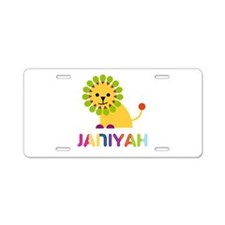 Janiyah the Lion Aluminum License Plate