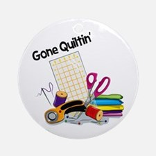 Gone Quiltin' Ornament (Round)