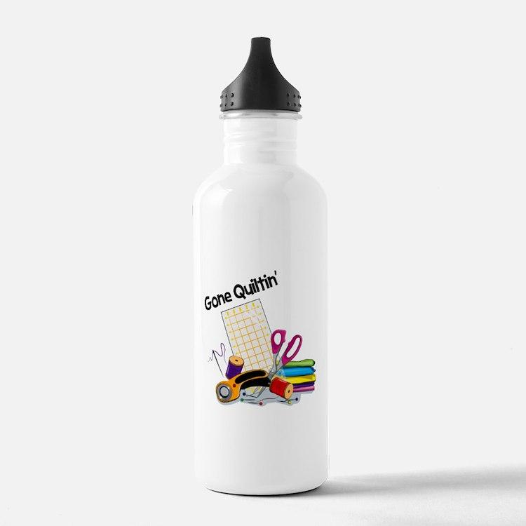 Gone Quiltin' Water Bottle