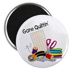 Gone Quiltin' Magnet