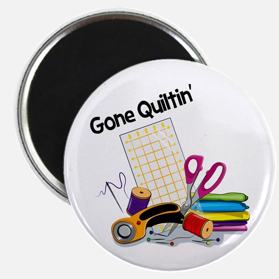 "Gone Quiltin' 2.25"" Magnet (10 pack)"