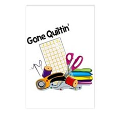 Gone Quiltin' Postcards (Package of 8)