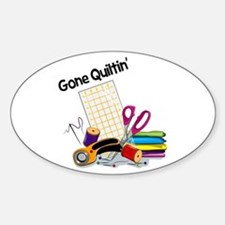 Gone Quiltin' Stickers