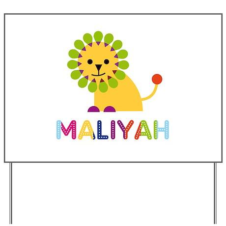 Maliyah the Lion Yard Sign