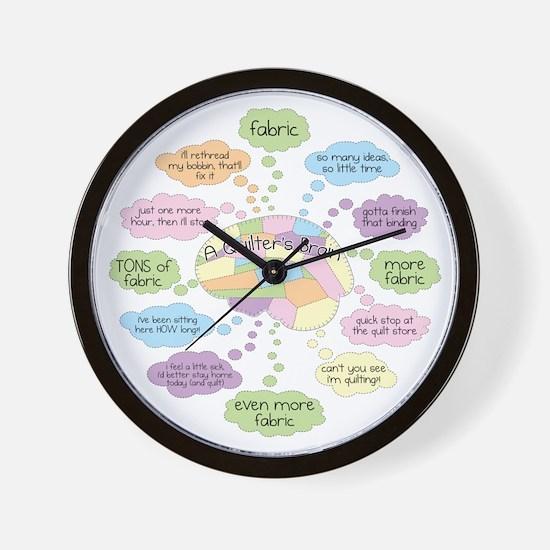 Unique Quilters brain Wall Clock