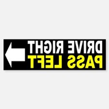 Drive Right Pass Left FRONT Sticker (Bumper)