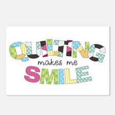 Quilting Makes Me SMILE! Postcards (Package of 8)