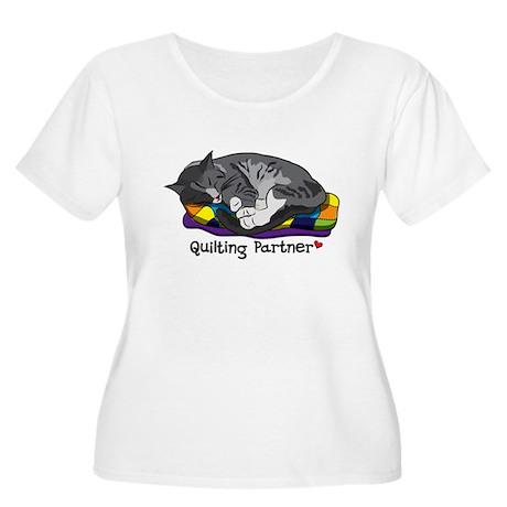 Quilting Partner Women's Plus Size Scoop Neck T-Sh