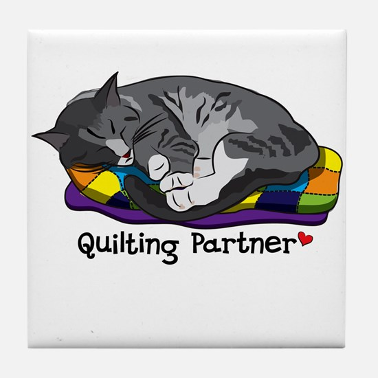 Quilting Partner Tile Coaster