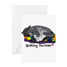 Quilting Partner Greeting Card
