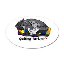 Quilting Partner 22x14 Oval Wall Peel