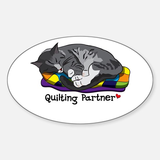 Quilting Partner Sticker (Oval)