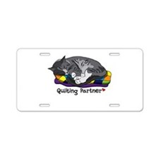 Quilting Partner Aluminum License Plate