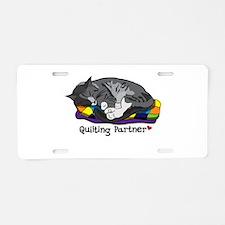 Quilting Partner Aluminum License Plate