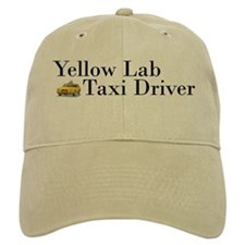 Yellow Lab Taxi Baseball Cap