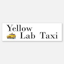 Yellow Lab Taxi Bumper Bumper Bumper Sticker
