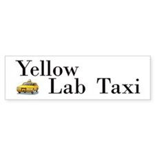 Yellow Lab Taxi Bumper Bumper Sticker