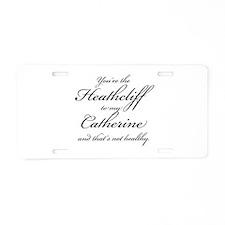 Heathcliff and Catherine Aluminum License Plate