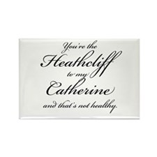 Heathcliff and Catherine Rectangle Magnet