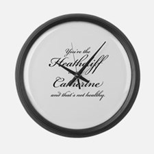 Heathcliff and Catherine Large Wall Clock