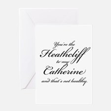 Heathcliff and Catherine Greeting Card