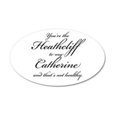 Heathcliff and Catherine 22x14 Oval Wall Peel
