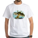Fish Mens Classic White T-Shirts