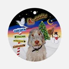 Xsigns-Italian Spinone (round) Round Ornament