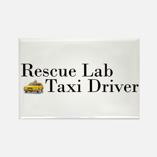 Rescue Lab Taxi Rectangle Magnet