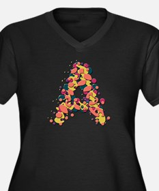 A Fiesta Women's Plus Size V-Neck Dark T-Shirt