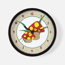 Mod Mushrooms Clock