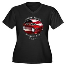 Dodge Charger SRT8 Women's Plus Size V-Neck Dark T