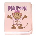 Little Monkey Maureen baby blanket