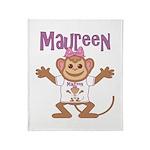 Little Monkey Maureen Throw Blanket