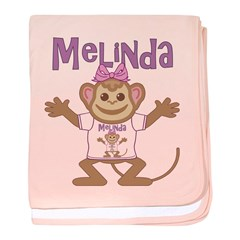 Little Monkey Melinda baby blanket