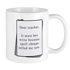 Deer teacher Small Mugs